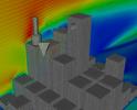Simulation around city blocks